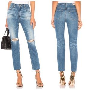 AG The Isabelle High Rise Straight Crop Jean
